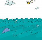 Ocean Background Cartoon