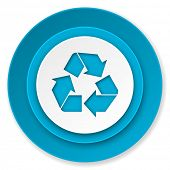 recycle icon, recycling sign
