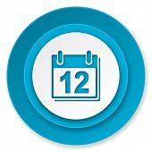 calendar icon, organizer sign, agenda symbol