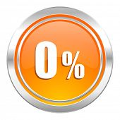0 percent icon, sale sign