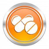 medicine icon, drugs symbol, pills sign