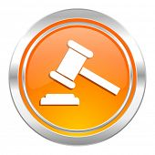 auction icon, court sign, verdict symbol
