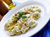 Pasta Tortellini Cream Ham And Basil