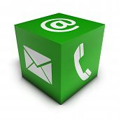 Web Contact Us Green Cube