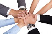 Businesspeople Stacking Their Hands