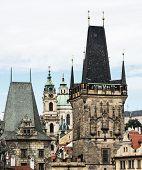 Town Bridge Tower And Saint Nicholas Church In Prague