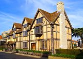picture of william shakespeare  - The Stratford shakespeares birthplace in the England - JPG