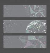 Abstract geometric triangular banners