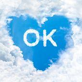 Ok Word On Blue Sky