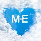 Me Word On Blue Sky