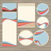 Set Of Retro Wedding Cards