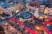 Prague Christmas Market On Old town square