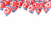 Balloon Frame With Flag Of North Korea