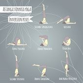 Yoga. Inversion Poses.