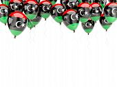 Balloon Frame With Flag Of Libya