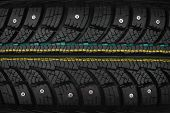 picture of stud  - New modern studded tire can use as background texture - JPG