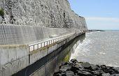 Promenade Under Cliff Near Brighton. Sussex. England