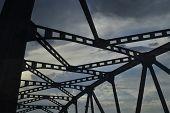 Silhouette Of A Bridge