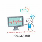 resuscitation is a monitor shows the heartbeat