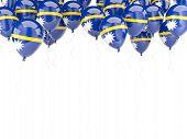 Balloon Frame With Flag Of Nauru