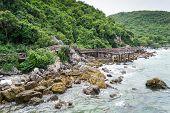 Lan island. The beach of Thailand.