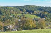 Village in the Erzgebirge, Germany