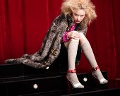 Beautiful Blond Woman In A Fur