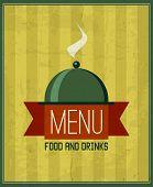 Vintage Menu Design Template For Your Restaurant, Cafe, Bistro,