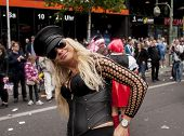 Elaborately Dressed Participant Woman, During Christopher Street Day Parade