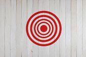 Target On Wood Wall