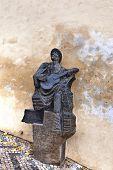 Sculpture of a Czech Songster in Prague.