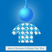 Christmas And New Year's Card With Stylized Figure