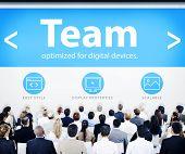 Business People Team Web Design Concept