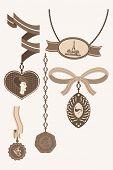 vintage jewelry set brown