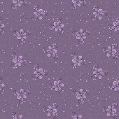 textile pattern of abstract flowers