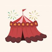 stock photo of circus tent  - Circus Theme Tent Elements - JPG