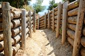 image of world war one  - Trenches buildt during World War One for  Gallipoli Campaign - JPG