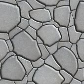 stock photo of paving stone  - Gray Figured Paving Slabs which Imitates Natural Stone - JPG