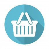 picture of cart  - cart blue flat icon shopping cart symbol  - JPG