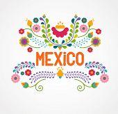 stock photo of enchiladas  - Mexico flowers - JPG