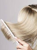 foto of hair streaks  - Blond hair - JPG