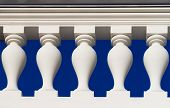 foto of tsarskoe  - Fragmeht of white baluster in baroque or classic - JPG