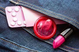 pic of contraceptives  - Healthcare medicine contraception and birth control - JPG