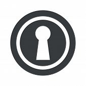 pic of keyhole  - Image of keyhole in circle - JPG