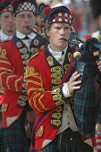 War of 1812 Bagpipe Player at Battle of Mississinewa Reenactment
