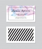 pic of ombres  - Modern Business Card Template - JPG