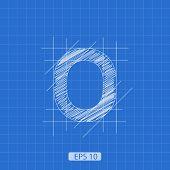 image of zero  - stylized figure  - JPG