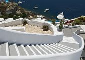 foto of pov  - Beautiful decoration detail in Oia village Santorini island Greece - JPG