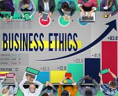 stock photo of moral  - Business Ethics Integrity Moral Responsibility Concept - JPG