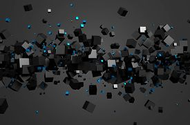pic of sci-fi  - Abstract 3d rendering of chaotic particles - JPG